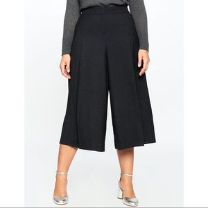 NWT : ELOQUII : Pleated Heather Grey Culotte Pants